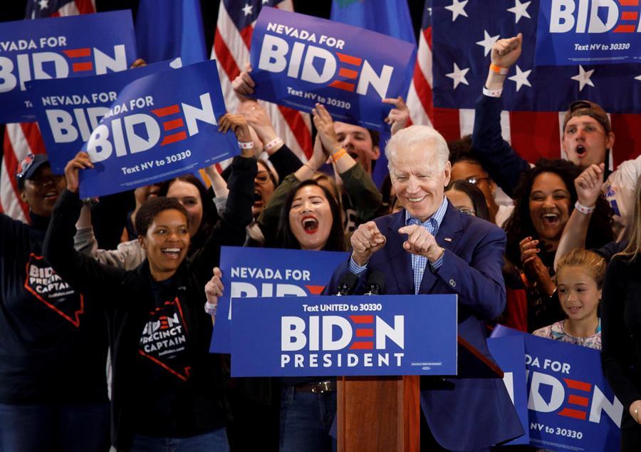 Biden celebra segundo lugar