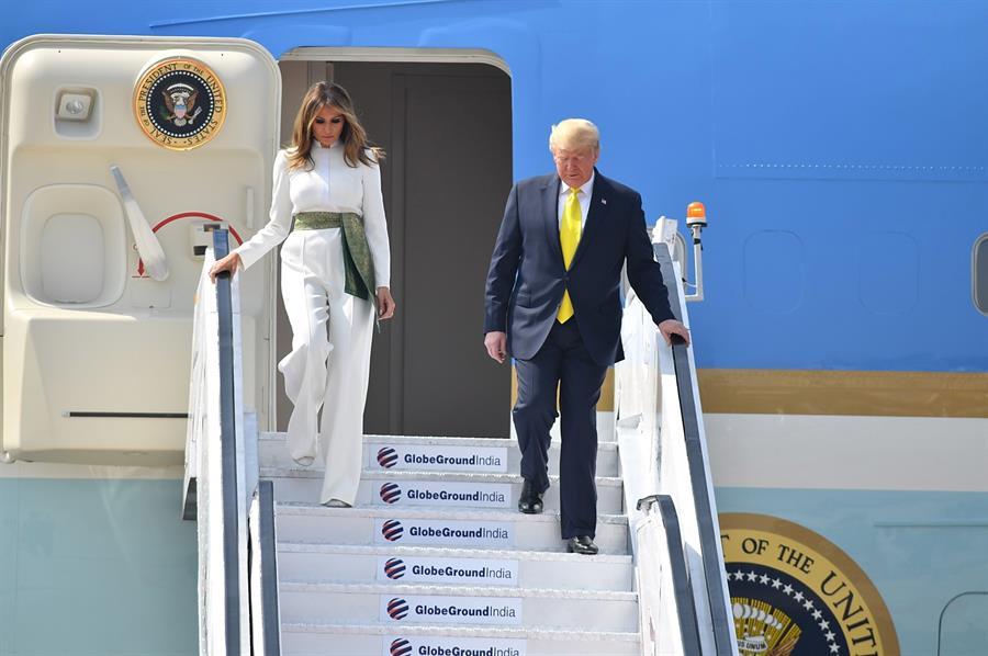 Llegada de Trump y Melania a India