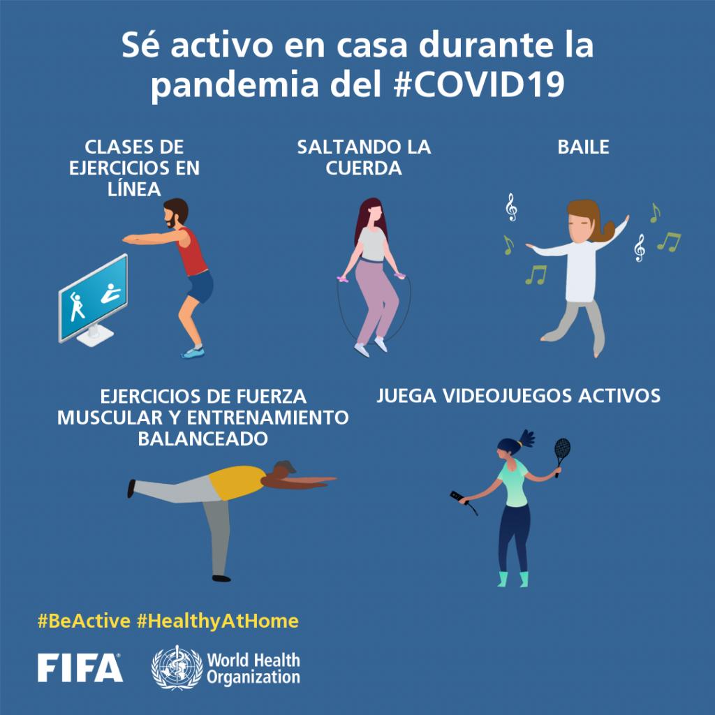 """""""Be Active"""": campaña de FIFA para vencer al coronavirus"""