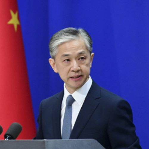 Wang Wenbin (Portavoz del Ministerio de Exteriores chino)