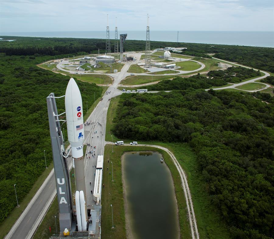 Plataforma de lanzamiento a dos días del inicio de la misión