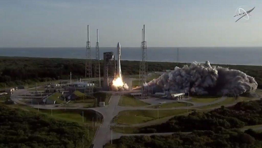 Vista del lanzamiento de la misión Mars 2020