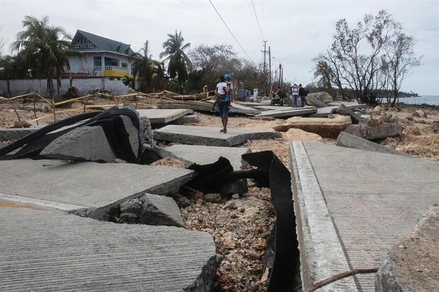 Calles destruidas en San Andrés