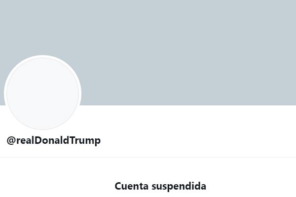 Twitter suspendió de forma permanente la cuenta de Trump
