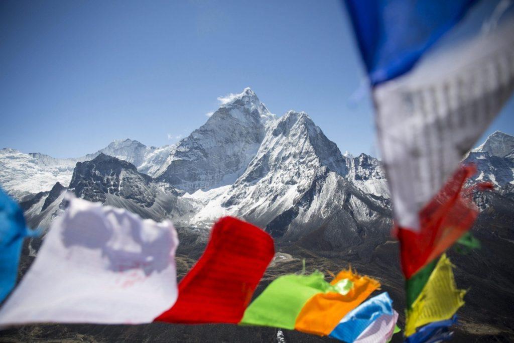 Imagen de un campamento de base camino del Everest