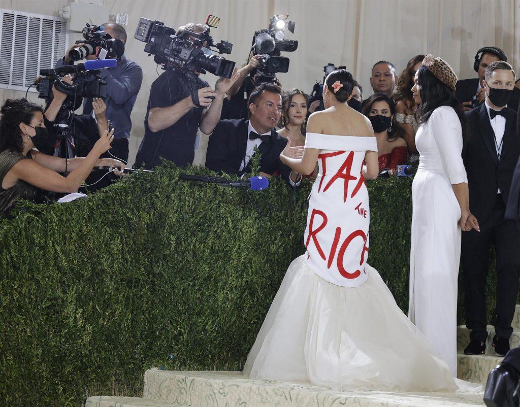 Ocasio-Cortez: un vestido con mensaje